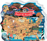 Cat's Meow Village America the Beautiful Map