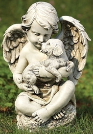 Joseph Studio Cherub Angel with Puppy