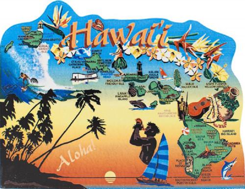United States Map, Hawaii The Aloha State