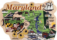 United States Map, Maryland The Old Line State
