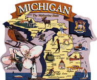 United States Map, Michigan The Wolverine State