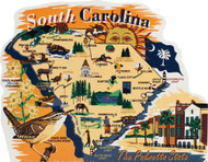 United States Map, South Carolina Palmetto State
