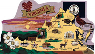 United States Map, Virginia -- The Old Dominion