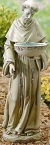 "20"" Joseph Studios St. Francis with Solar Birdbath Garden Statue"