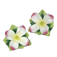 Dogwood Flower Salt Pepper Shaker Pair - Andrea by Sadek