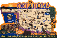 United States Map, Oklahoma Sooner State