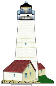 Cat's Meow Village Boston Lighthouse Candabean Exclusive