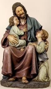 ROMAN Joseph Studio Jesus with Children Statue