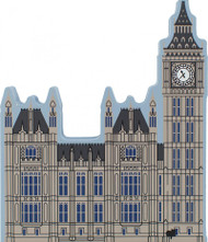 Cat's Meow Village Shelf Sitter --  Big Ben Clock Tower London England 00-916