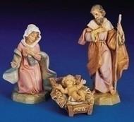 """5"""" Holy Family Set 3PC Traditional Mary, Jesus, Joseph"""
