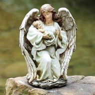"ROMAN Joseph's Studio 17"" Angel with Sleeping Baby Garden Art Statue"