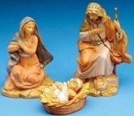 "Fontanini 5"" Holy Family Set 3PC Centennial Mary, Jesus, Joseph"