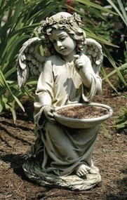 Joseph's Studio Sitting Angel Bird Feeder #47177