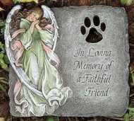 Joseph's Studio ROMAN Pet Memorial Stone In Loving Memory of a Faithful Friend