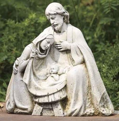 Nativity Garden Statue, Mary, Joseph, Baby Jesus, ROMAN, Josephu0027s Studio