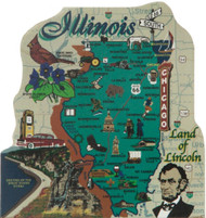 United States Map, Illinois Land of Lincoln State