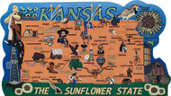 United States Map, Kansas Sunflower State