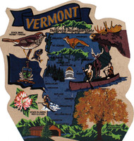 United States Map, Vermont Green Mountain State