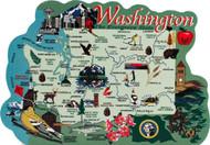 United States Map, Washington Evergreen State