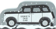 Cat's Meow Wooden Shelf Sitter Keepsake  It's a Wonderful Life - Ernie's Taxi Cab