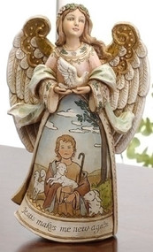 Angel Figure - Good Shepherd, Jesus Makes Me New Again #61065