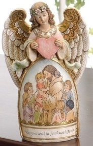 Walk in Faith Angel Figure - Jesus and Children #61061