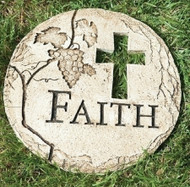 FAITH Cross Garden Stone, Grapes, #65434