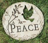 PEACE Dove Garden Stone #65437