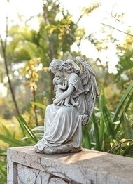 Angel with Child/Baby Garden Religious Christian Figure Statue #65975