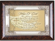 Bereavement Cottage Garden Wings Gold Wood Music Jewelry Box How Great Thou Art