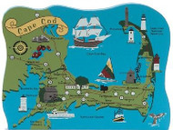 Cat's Meow Village Cape Cod Scene MAP Massachusetts #04-643 NEW *SHIP DISC*