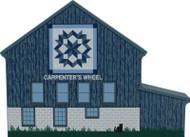 Carpenter's Wheel Quilt Barn Wooden Shelf Sitter