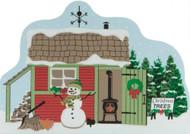 Cat's Meow Village Shelf Sitter - Christmas Snowman Tree Lot #CC11