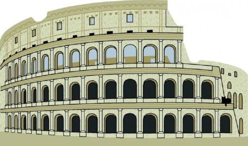 Cat's Meow Village Shelf Sitter - Colosseum Rome Italy  03-915