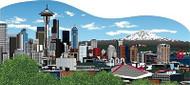 Cat's Meow Village Seattle Skyline WA Mt Rainier Needle  #RA927
