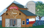 Cat's Meow Village State Barn Texas Lone Star State R1489 NEW SHIP DISCOUNTS