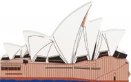Cat's Meow Village Shelf Sitter - Sydney Opera House Australia 03-918