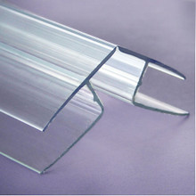 16mm Polycarbonate Corner / Ridge Cap, 12 ft. -  R channel polycarbonate extrusions trim and seal at ridge and corners