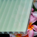 8mm Polycoolite® TwinWall Polycarbonate Sheet Pearlescent exterior coating contains a reflective pigment that reduces the need for exterior shade panels, and increases available light for plants.