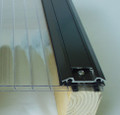 Brown Aluminum Bar Capping Maintenance-free glazing caps to secure glass or polycarbonate to supporting framework.