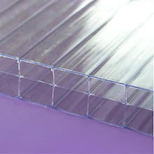 "25mm Crystal 3-Wall Polycarbonate Sheet 1"" thick clear panels capture solar energy"