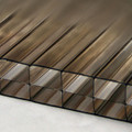 25mm Bronze 3-Wall Polycarbonate Sheet Perfect for home renovations, office partitions, and skylights