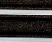 J H S Trio Bar Entrance Matting 070 Brown