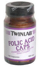 Twin Labs Folic Acid, 100 caps