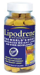 Hi-Tech Lipodrene with Ephedra 100 tabs