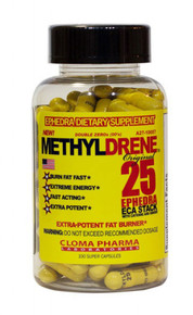 Cloma Pharma Methyldrene 25 ECA Fat Burner