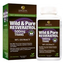 Genceutic Naturals Wild & Pure Resveratrol 500mg Trans