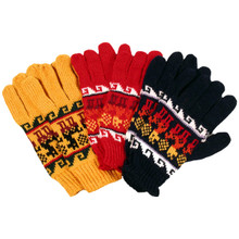 Alpaca Blend Knit Gloves Adult Assorted Colors