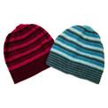 Striped 100%  Alpaca Skullcap Hat Unisex Adult Size Peru Fair Trade