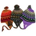Alpaca Wool Striped/Geometric Chullo Hat One Size Adult